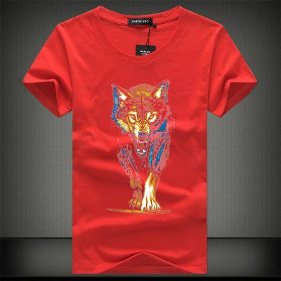 Fashion Summer Men T-shirt 3d Print Nightmare Tiger Short-Sleeved Casual Tops Tees Men's Plus Size Shirts