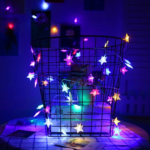 Stars LED String Lights - Battery Powered