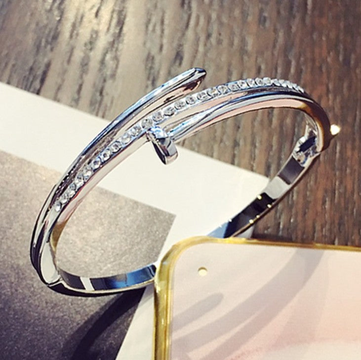 Party Trendy CZ New Bangle Crystal from Swarovski Fit DW Charms Bracelet For Women Diy Jewelry Making