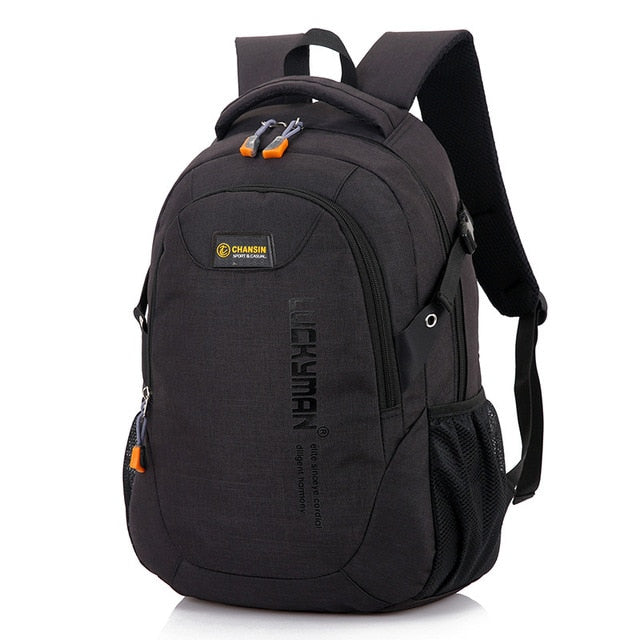 New Fashion Men's Backpack Bag Male Polyester Laptop Backpack Computer Bags high school student college students bag male