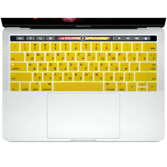 "Silicone MacBook 13"" & 15"" Keyboard Colored Cover"