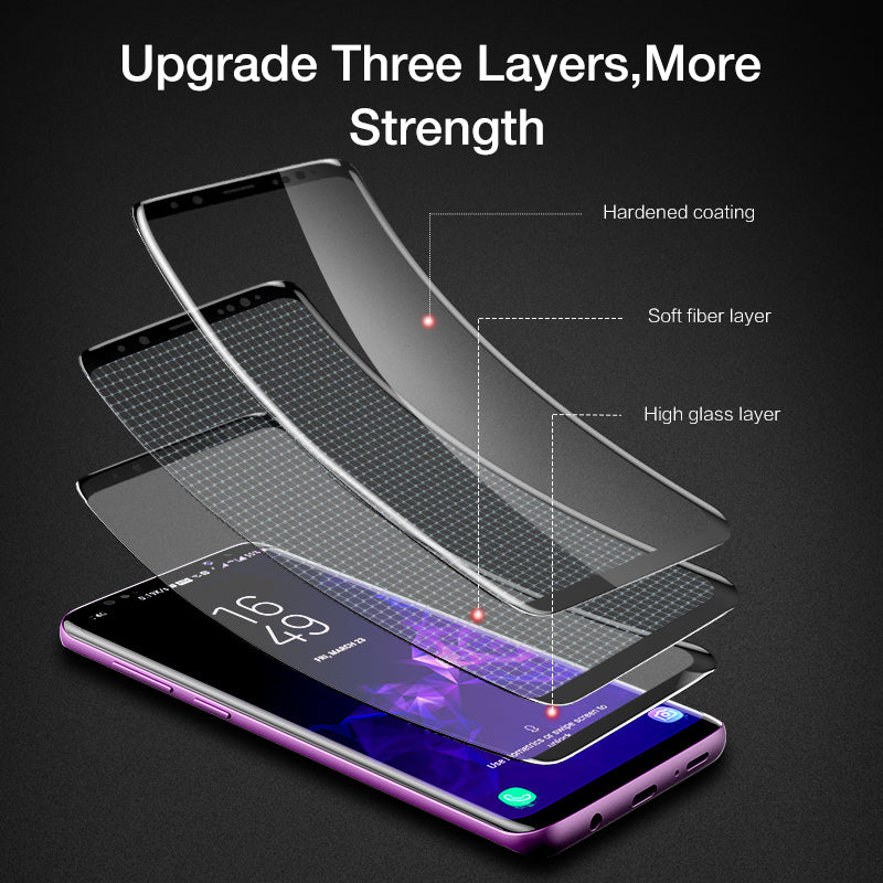FLOVEME For Samsung S9 S8 Screen Protector 3D Curved Full Cover Ultra Soft Film For Samsung Galaxy S8 S9 Plus Not Tempered Glass