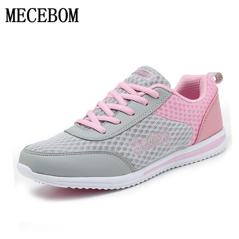 New Summer Zapato Women Breathable Mesh Zapatillas Shoes For Women Network Soft Casual Shoes Wild Flats Casual