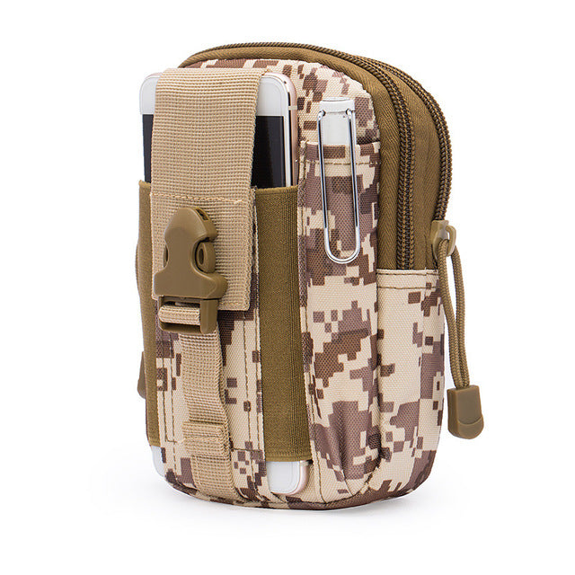 Men Waist Pack Bum Bag Pouch Waterproof Military Belt Waist Packs Molle Nylon Mobile Phone Wallet Travel Bag