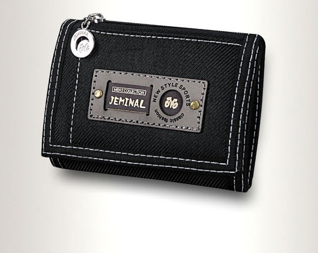 Men Purse Cards ID Holder Clutch Man Wallets Moneybags Fabric Coin Purse Canvas Short Good Quality Fold Purses Wallet Pocket Bag