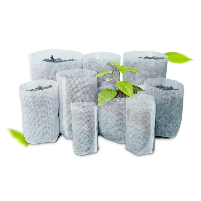 100 Pack: Seedling Nursery Bags