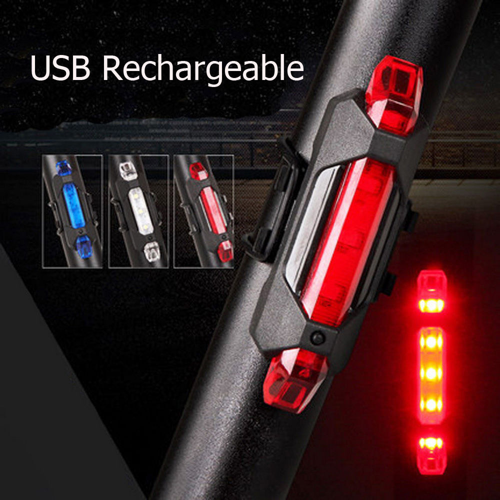 USB Rechargeable Bike LED Safety Tail Light
