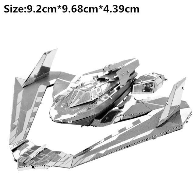 Silver Batman Series 3D Metal Puzzle Series DIY Batmobile Puzzles Stainless Steel Model For Adult Child Kids Educational Toys