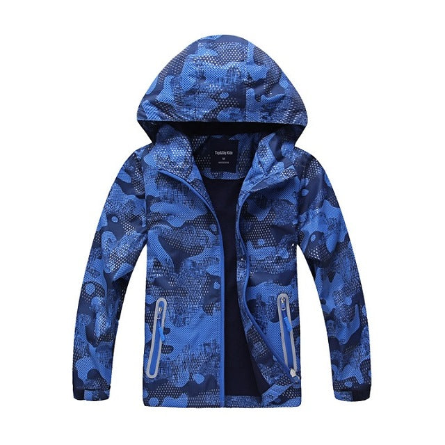 Waterproof Windproof Sporty Kids Warm Jackets