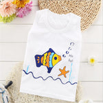 Baby's Clothing Vest Shirt Children's Sleeveless O-Neck Outfits Cotton Cartoon Pattern KidsTops For Casual Summer Sporting Cloth