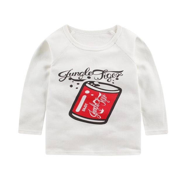 Baby Girls Clothes Kid Cute Bee Printed Cotton T Shirts Boys T Hisrts Clothes Children Long Sleeve T-Shirts Infant  Tee Tops