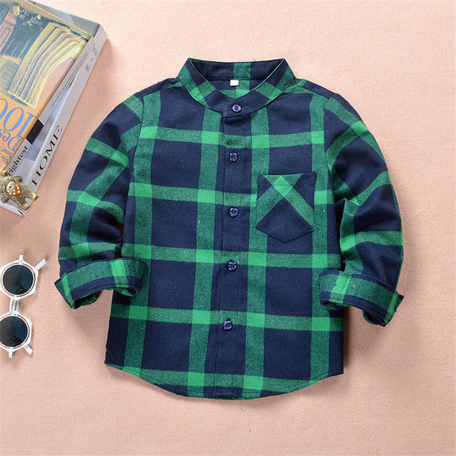 Shirts For Boys Girls Blouse For Girls In School Clothes Plaid Shirt Children Baby Blouses Top The School Blouse Kids Clothing