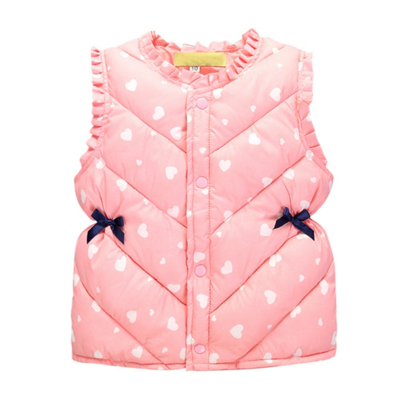 Multi-color Girl And Boys Cute Baby Vest Warm Jacket Vest Children's Clothing Outerwear Coat