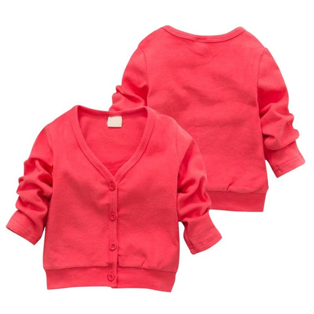 Child Boys Girls V-neck Cardigan Thick Cotton Jacket Coat Casual Comfortable Jacket for Girls Boys Windbreaker