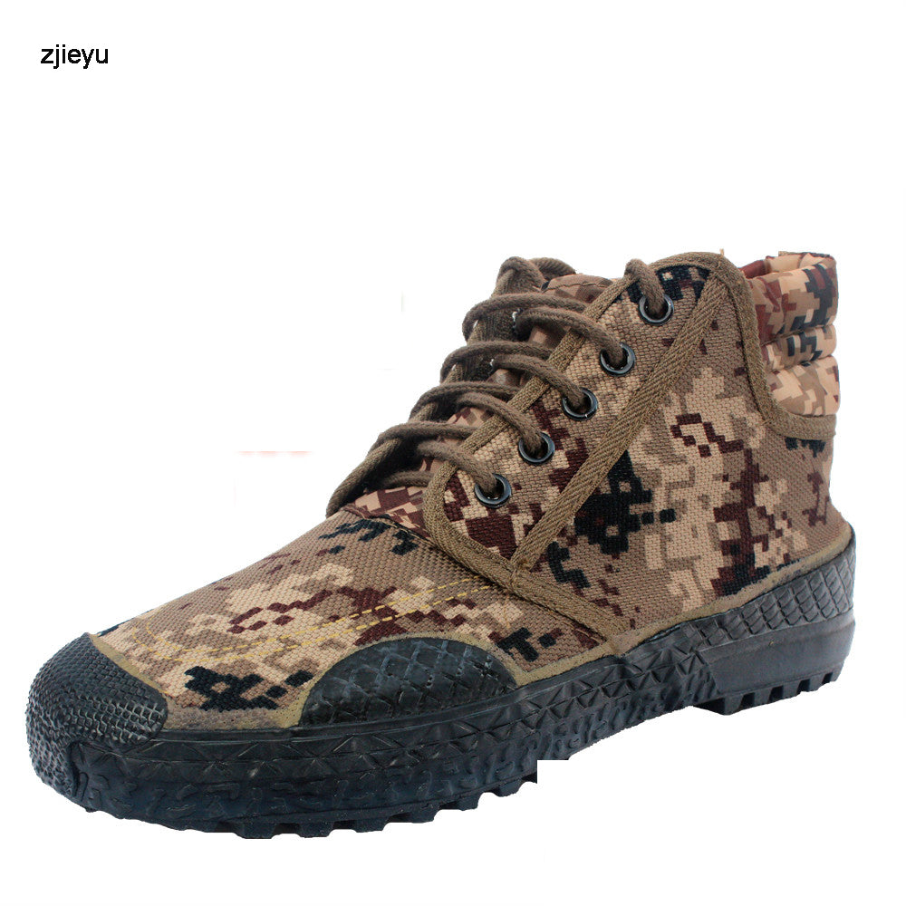 Desert camouflage bot men rubber soles canvas Military Boots Sport Army asker  Men Ankle Boots Botas Autumn Travel Shoes