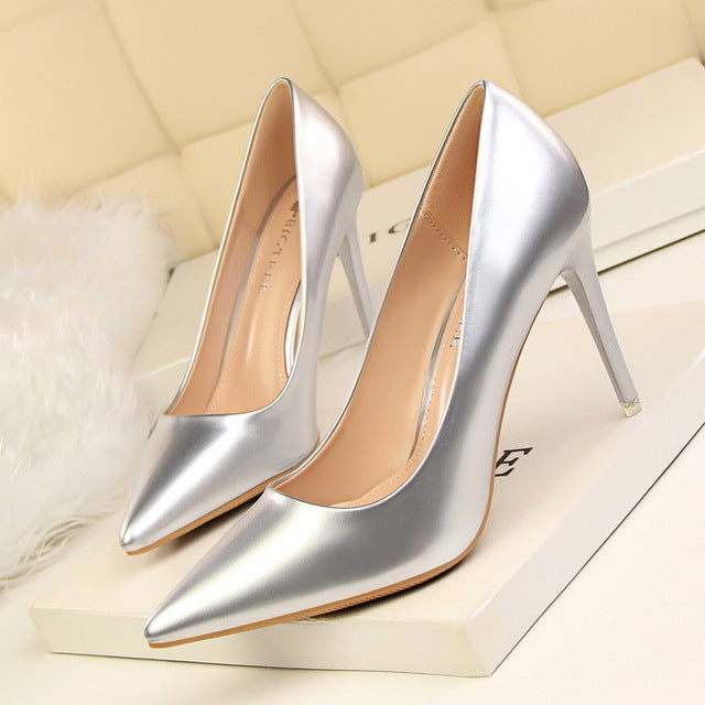 Women Pumps   High Heels Office Heel Shoes Woman Summer Pumps Shoes Pointed Toe Fashion Word Shoes Famale