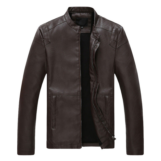 New Fashion Leather Men Jackets PU Thick Winter Motorcycle Jacket Coat Warm Outerwear Hombre Plus Size 4XL