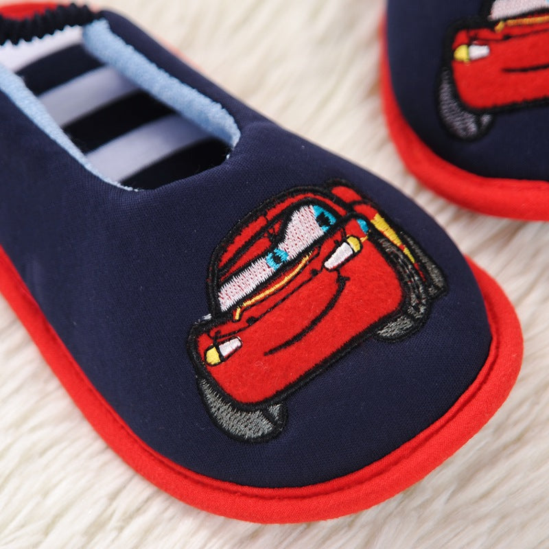 Kocotree Kids Slippers Children Home House Girls Shoes Boys Indoor Bedroom Baby Cotton House Flats Child Soft Bottom Slippers