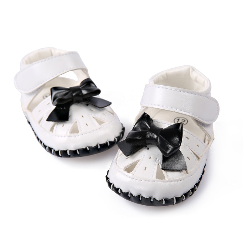 Baby Girls Summer Beach Toddler Fashion Hollow Out Breathable Bowknot  skid proof Stripe Kids Leisure high quality Sandals
