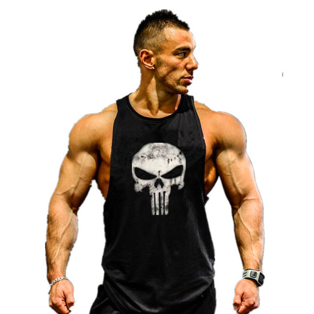 Muscleguys Brand clothing bodybuilding vest and fitness men tank tops golds brand high quality 100% cotton undershirt
