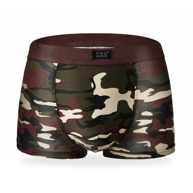 Men Boxer Shorts Camouflage  Modal L-3XL High Quality Male Camouflage Boxer Shorts Mens Underwear Striped