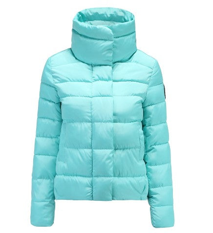 Women's Duck Down Neck Guard Puffer Jacket