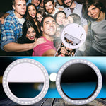 Portable Selfie LED Ring Flash Light Clip