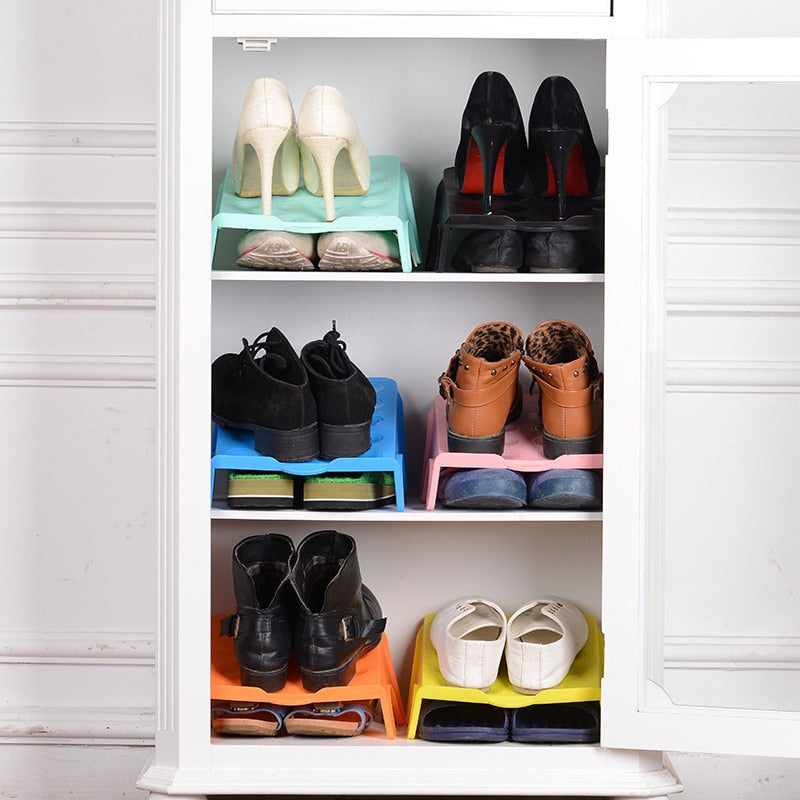 Convenient Double Shoe Rack Organizer