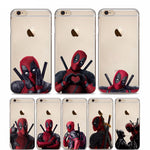 Marvel Deadpool Super Hero Soft Silicon iPhone Case