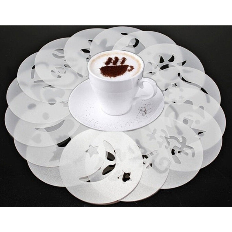 16 Piece: Decorative Coffee Froth Finisher Molds