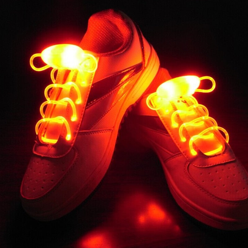 Yellow LED Flash Light Up Shoelaces