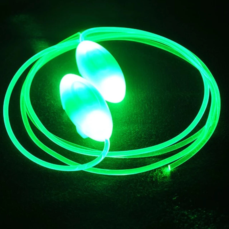 Green LED Flash Light Up Shoelaces