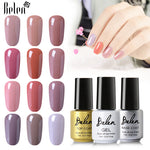 Belen 7ml UV Nail Gel Polish Nude 24 Colors Varnishes Long Lasting Saok Off Semi-permanent Gel Lacquer Prime Base Top