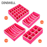 4 Piece: Clothing Divider Storage Box Organizers