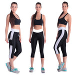 Yomsong  Fashion Pockets Capris High Waist Stretched Leggings  Casual Pants Capris   121