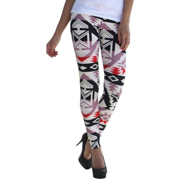 Women Printed Colorful Invisible Seamless Soft Legging Hipster Underwear Pants