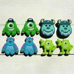 Novelty 1pc Monster University PVC Shoe Charms Shoe accessories Shoe decoration Shoe Buckles Accessories Fit Wristband/Croc JIBZ