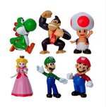 6 pcs/set 4-7cm Super Mario Action Figures