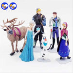 6 Pcs/Sets Elsa And Anna Figures