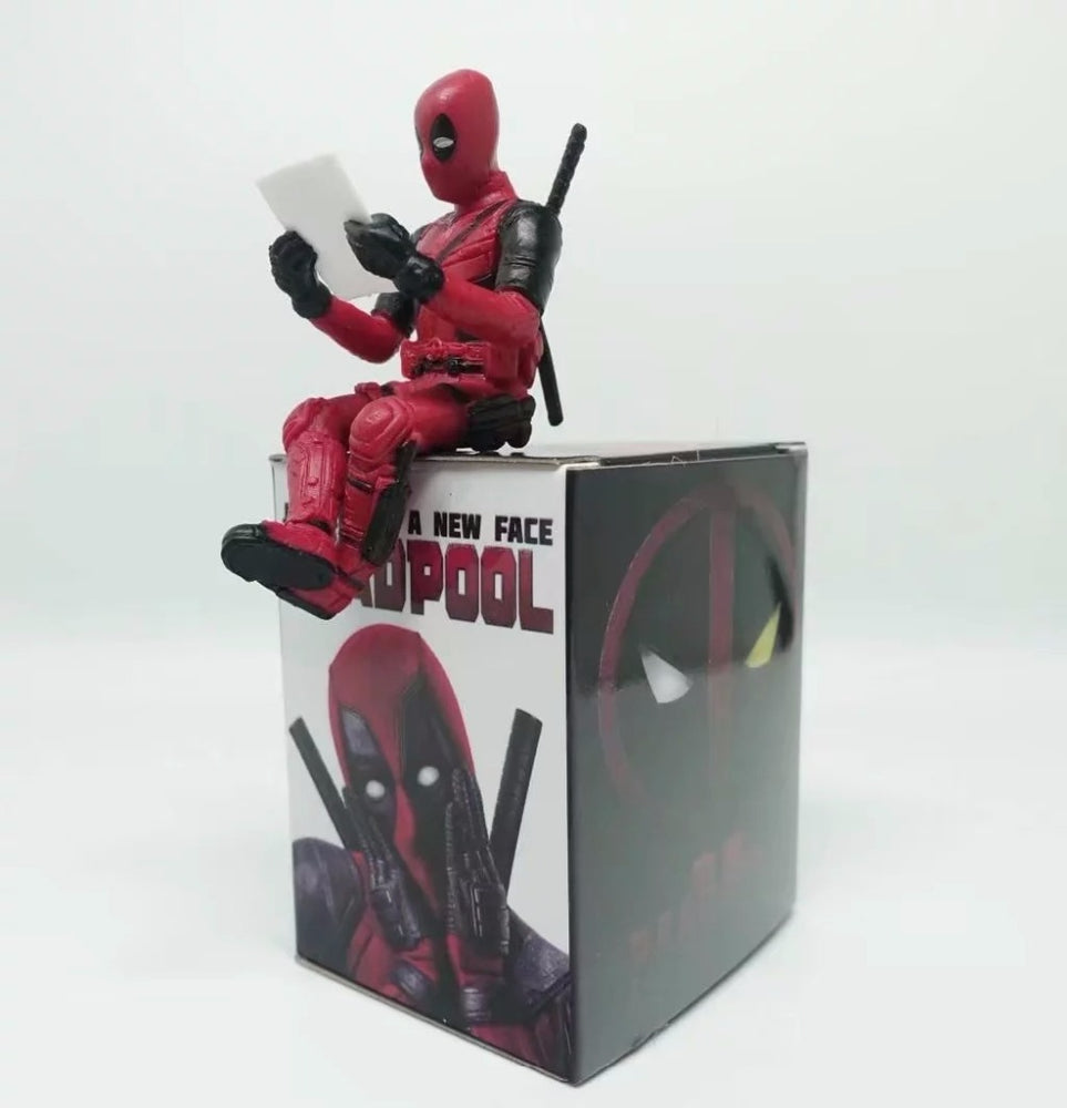 Anime Superheros Figure Deadpool Mini PVC Action Figure Collectible Model Kids Toys Doll 7CM