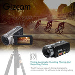Gizcam HDV 312P 2.7'' inch 24.0MP Digital Camera 1080P 16x Zoom DV 270 Degrees Rotate Screen With Microphone Speaker UK/US Plug