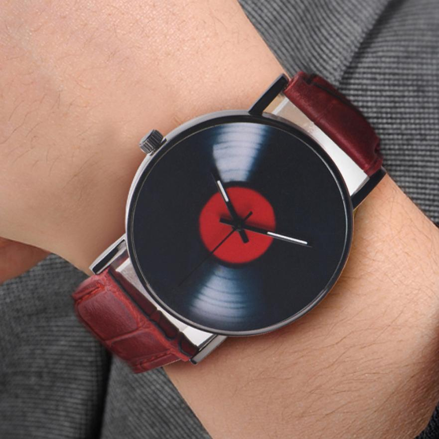 Image of Stainless Steel Record Disc Quartz Wrist Watch - $7.99 - Free Shipping