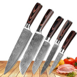 Damascus Stainless Steel Professional Chef Knife Set