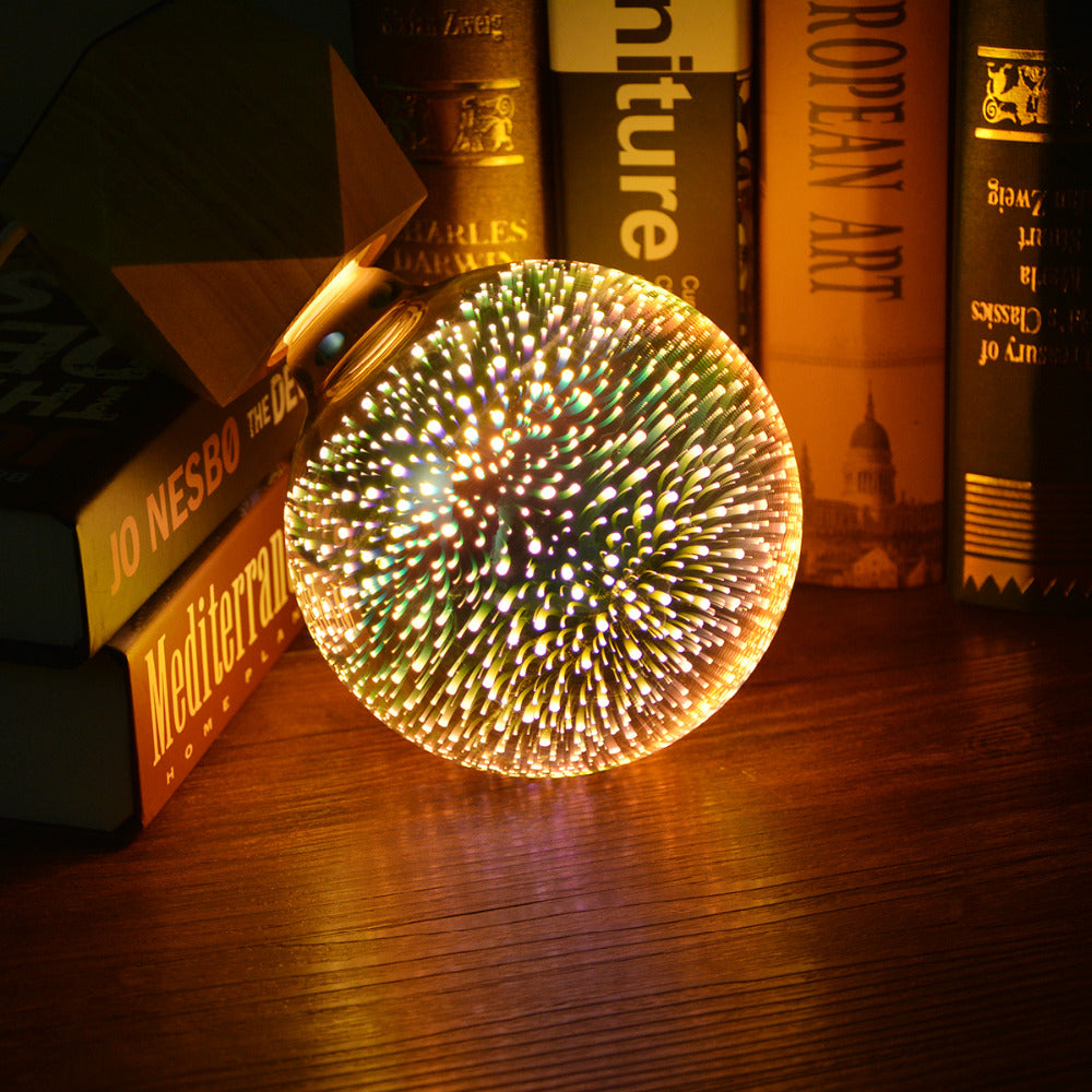 Decorative 3D Star Fireworks Effect LED Night Light Bulb