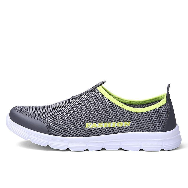 OKOUFEN Size 34-46 Couple Mesh Sneakers Summer Breathable Men Running Shoes Outdoor Network Slip-on Sport Shoes Woman Footwear