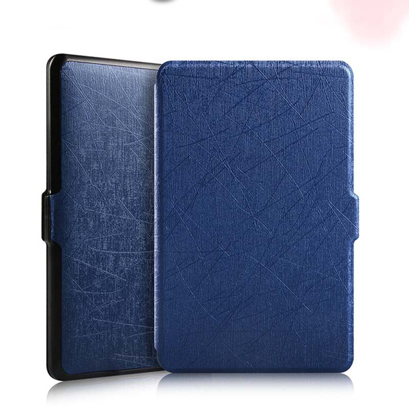 MDFUNDAS Luxury Silk Pattern Leather Cover For Kindle Paperwhite 1 2 3 Case Magnetic Flip Fundas For Kindle Paperwhite