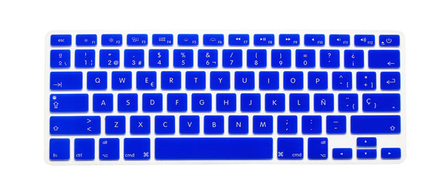 US Version Spanish Spain Language Silicone Keyboard Cover For Macbook Air Pro Retina 13 15 17inch keyboard Film 14 colors