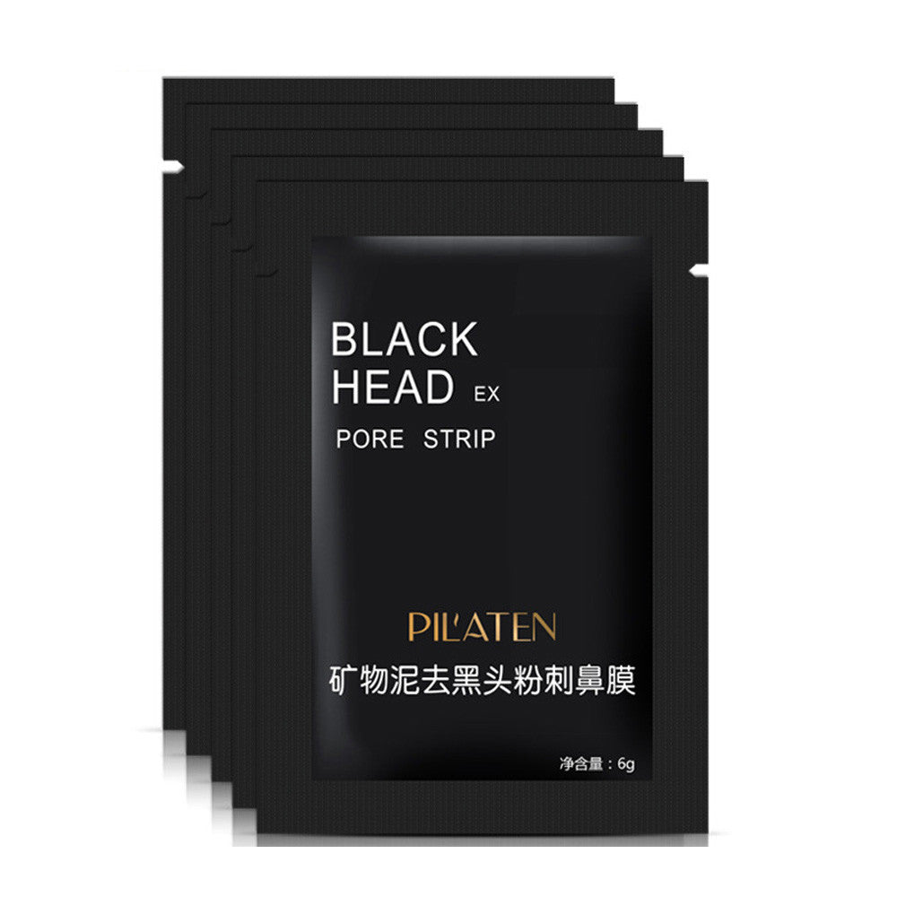 3pcs Blackhead Remover Black Mud Deep Cleansing Purifying Peel Acne Face Mask