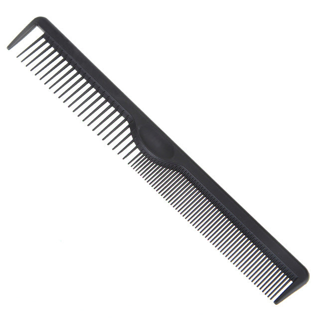 Pro Salon Barber Styling Hairdressing Black Carbon Combs