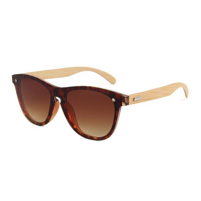 Wooden UV400 Mirror Tint Bamboo Sunglasses